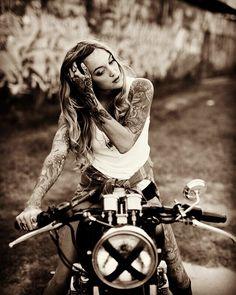 #bikerchick #bikergirls #bikerchicks #motorcyclechick #tattoedgirl #tattoedbiker #chickwithtattoos #chickwithtattoo #bikelife #biker #bikers #motorcyclelifestyle #motorcycles #custombike #custombikes #hotbikerbabes #inkedgirls #inkedbikerbabe #inkedbiker #bikerbabe #bikerbabes