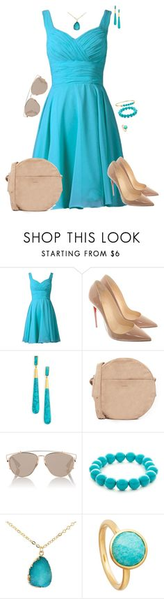 """Untitled #1345"" by kitty-paws04 ❤ liked on Polyvore featuring Christian Louboutin, Dean Davidson, BAGGU, Christian Dior, Kim Rogers, Astley Clarke and Lauren Ralph Lauren"