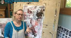 """Tips for bringing structure into an abstract painting """"start"""". Integrating a painting that feels chaotic or busy by bringing in an organic grid substructure"""