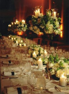 never get tired of these candleabra option centerpieces..