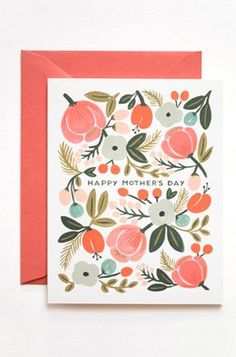 8 Funny & Cool Mother's Day Card Ideas: Rifle Paper Co. In Bloom Card from Notemaker. #Stylish365
