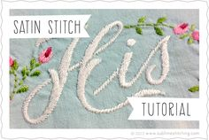Sublime Stitching • Hand Embroidery Tutorials   Sublime Stitching