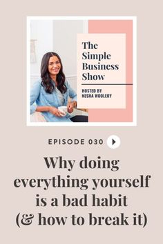 To all my solopreneurs out there, please listen up! Here is a few reasons why doing everything yourself Is a bad habit (& how to break It). Trust me, you're going to want to read this one. It'll save you time in your service based business. #neshwoolery #thesimplebusinessshowpodcast #smallbusinessideas #solopreneurtips #startingabusiness #onlinebusiness #freelancebeginner #servicebasebusiness Creative Business, Business Tips, Online Business, Content Marketing, Online Marketing, Entrepreneur, Motivation, Virtual Assistant, Time Management