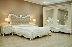 Beyaz ve Krem Tasarım Avangard Mobilya | Yatak Odası Modelleri 2015