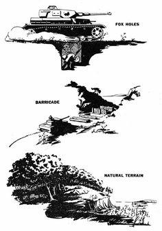 Passive Antitank Measures: Fox holes, barricades, and natural terrain
