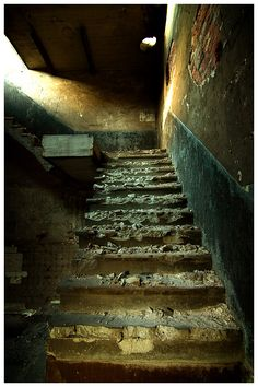 Stairs abandoned coal storage by *damnengine on deviantART