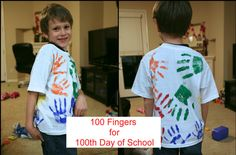 Shirt we made for my son to wear on the 100th day of school- made it a family thing
