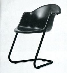 Stackable fibreglass chair 419 by Haimi Oy, designed by Yrjö Kukkapuro, 1970.
