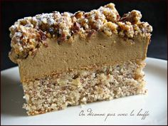 Hazelnut coffee pudding- Entremets café noisette Hazelnut coffee confections – We do not mess with food - Cupcake Recipes, Dessert Recipes, Pasta Recipes, Coffee Drink Recipes, Coffee Dessert, Cooking Chef, No Cook Desserts, Food Cakes, Christmas Desserts