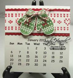 January 2013 Calendar Page with Make a Mitten Calendar Notes, 2013 Calendar, Event Calendar, Calendar Ideas, Calendar Printable, Holiday Cards, Christmas Cards, Hat Tutorial, Scrapbook Pages
