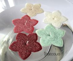 Decolio swimming candles - Marsala, mint, ivory, beige...