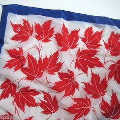 Vintage Girl Guides of Canada Red Maple Leaf Scarf