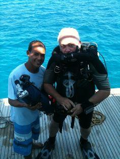 Preparing to dive