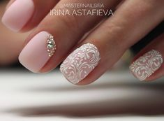 "Gefällt 186 Mal, 5 Kommentare - MasterNails : Ирина Астафьева (@masternailsira) auf Instagram: ""• ❄️• _____ - гель лак - стразы - вензеля ______ #masternails #nails #Pushkin #manicure…"""