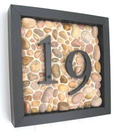 House Number.  I like this idea.  I'd probably do some other than stones though...