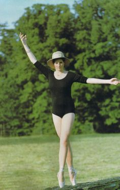Lady Diana adopts ballet position for her father to capture a photograph of his slim, tall daughter who took ballet and tap dance classes at school. She used to practice in the black and white marble entrance hall at Althorp estate.
