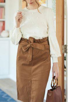 Linda Corduroy Midi Skirt - Morning Lavender Boutique Skirts Midi Skirt Outfit, Skirt Outfits, Dress, Pom Pom Sweater, Girls Night Out, Corduroy, Work Wear, High Waisted Skirt, Lavender