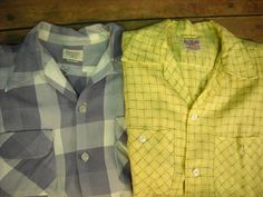 Vintage 1950's Men's Shirts  Pair  Medium by Rustology on Etsy, 30.00