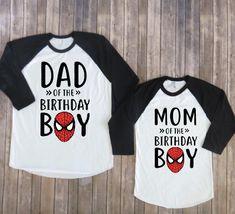 Mom and Dad of birthday boy- Spiderman Version, spiderman birthday, spiderman party, superhero birthday, matching parents, superhero shirt by JADEandPAIIGE on Etsy https://www.etsy.com/listing/584060182/mom-and-dad-of-birthday-boy-spiderman