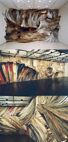 Very cool sculptural wood installations by Brazilian artist Henrique Oliveira.