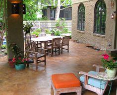 Stained Concrete Patios | acid stained concrete decorative scored acid stain concrete patio deas