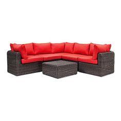 Whitley Sectional Patio Set (Wicker, Red) - by La-Z-Boy Outdoor La-Z-Boy Outdoor http://www.amazon.com/dp/B00QMPFOWQ/ref=cm_sw_r_pi_dp_G4Divb114PGM0