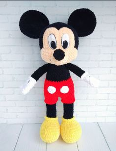 Mickey Mouse Crochet Pattern Amigurumi Toy Pdf Pattern Disney Toys Mouse Toys For Kids Knit Fluffy Tutorial Crochet Disney Crochet Pattern Amigurumi Mickey Mouse Disney Stuffed Toy Tutorial Crochet Mickey Mouse, Mickey Mouse Toys, Crochet Eyes, Crochet Video, Tutorial Crochet, Kids Crochet, Crochet Dolls Free Patterns, Amigurumi Patterns, Knitting Patterns