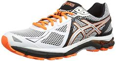 ASICS  GT-2000 3, Herren Outdoor Fitnessschuhe, Weiß (White/Silver/Flash Orange 193), 40.5 EU ( 6.5 UK) - http://on-line-kaufen.de/asics/40-5-eu-asics-gt-2000-3-herren-laufschuhe-6
