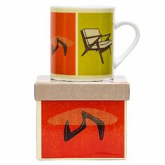 Modern Home Mug – Living Room: The Modern Home range is a tribute to 26 of the last century's most iconic designs in homewares, illustrated in a charming, vintage screen-print style.
