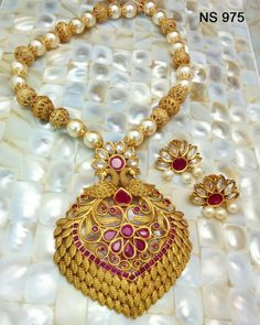 Chain ( make with havala) India Jewelry, Temple Jewellery, Gold Jewellery, Antique Jewelry, Beaded Jewelry, Jewelry Patterns, Necklace Designs, Wedding Jewelry, Jewelry Collection