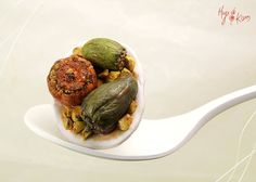 Here this can be what Alicia gets for the healthy side of things --- Gemista Greek Traditional food Ring - Stuffed Vegetables - Mini Food Jewelry