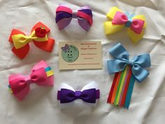 My little pony inspired hair bows collection