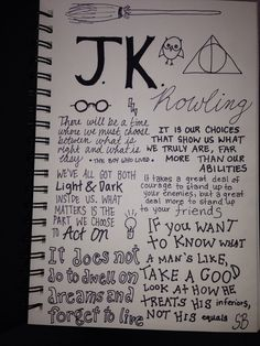 My author with favourite quotes journal page