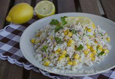 Insalata di riso tonno e limone