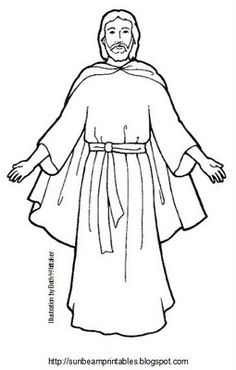 Sunbeam Printables: Craft Page for Lesson 5: Jesus Christ is the Son of Heavenly Father