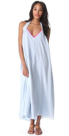 Surf Bazaar Halter Cover Up Maxi Dress Foam/Flora Your Products Finder Swimwear Cover Ups, Swimsuit Cover Ups, Best Swimwear, Color Pop, Cold Shoulder Dress, Fashion Outfits, Summer Dresses, Clothes For Women, Surf