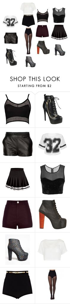 """Performance outfits for ""The revolution"" tour with  Justin Bieber, and jack and jack."" by slayyeettia ❤ liked on Polyvore featuring Boohoo, Mairi Mcdonald, River Island, Jeffrey Campbell, Topshop and Pretty Polly"