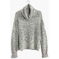 MADEWELL Marled Turtleneck Sweater ($80) ❤ liked on Polyvore featuring tops, sweaters, jumpers, shirts, marled snowflake, white turtleneck sweater, white jumper, cropped sweater, turtleneck crop top and turtle neck shirts