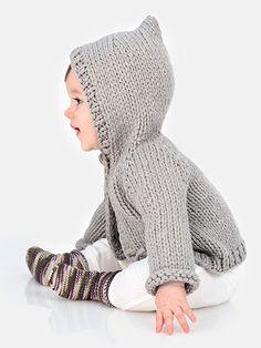 Honeybear Hoodie & Sweetie Socks Knit Pattern from Annie's Craft Store. Order here: https://www.anniescatalog.com/detail.html?prod_id=129918&cat_id=469