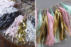 DIY colorful tassel garland with this tutorial.
