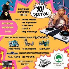 Tonight!! No cover. Huge tent & heaters  Best 90s dressed prizes: free Tattoo from @tattoometro & a Sega Genesis w/ game of your choice from @freaksandgeeksdenton  #yodenton #dentonslacker #denton #dentontx #dentontexas #dentonite #dentoning #den10 #wedentondoit #wddi #dentonmusic #dentonhiphop #unt #twu #doingitdenton