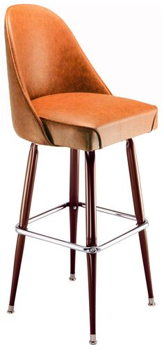 Our rounded back bucket bar stools are great for restaurants and bars.  We also sell many to homes trying to capture that authentic bar look for their basement.