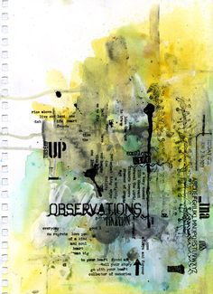 (via Captivated Visions - Art Journal - 'Observations')
