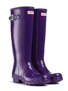 Original Tall Gloss Rain Boots   Hunter Boot Ltd Hunter Boot $140.00 Sovereign Purple. usa.hunter-boot.com