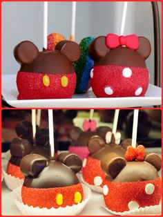Mickey & Minnie Mouse Candy Apples