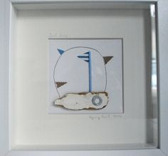 Driftwood boat in frame by Upcycle art creations