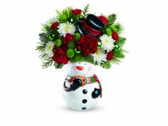 Teleflora's Snowman Cookie Jar Bouquet   Giveaway! Enter to win!
