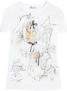 RED Valentino Printed jersey T-shirt on shopstyle.com