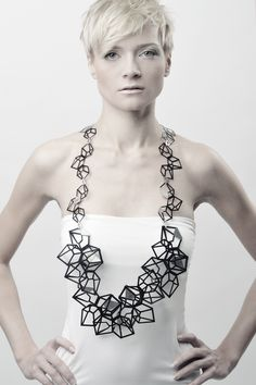 Geometric Necklace - art jewelry; contemporary jewellery design \/\/ Kim Friederich