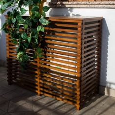 Air Conditioner Cover Outdoor, Air Conditioner Screen, Hide Water Heater, Outdoor Screens, Tropical Houses, Plein Air, Terrazzo, Garden Beds, Backyard Landscaping